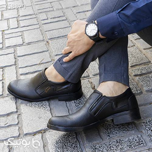 كفش ecco مردانه مشكي مدل Harison مشکی كفش مردانه