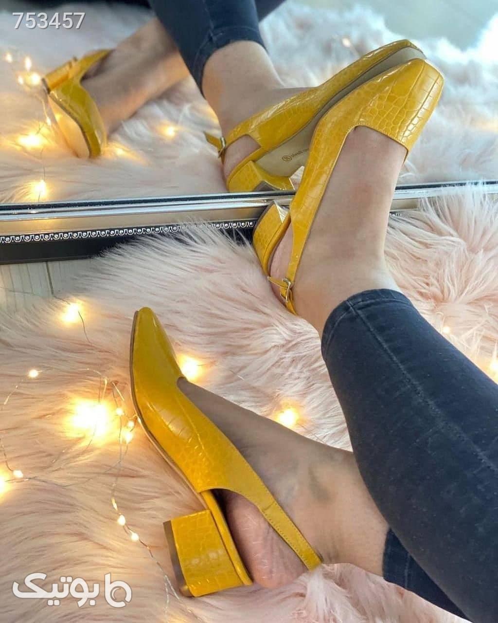 کفش زنانه  نارنجی كفش پاشنه بلند زنانه