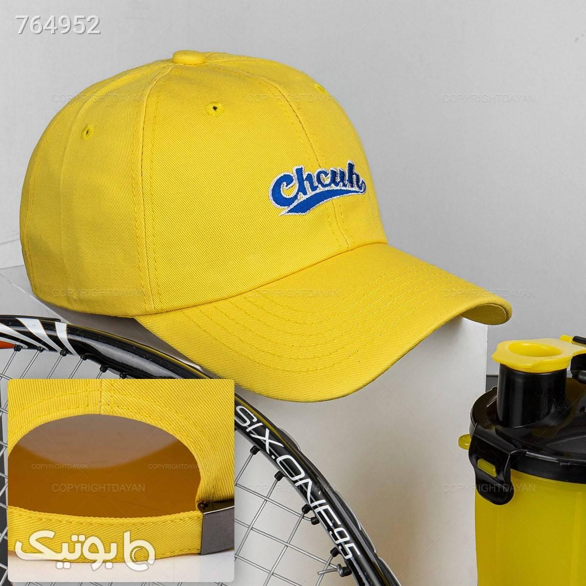 حراج کلاه کپ مدل 19290 زرد کلاه و اسکارف