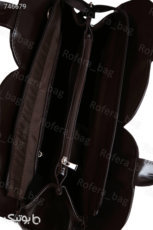 کیف دوشی ورنی زنانه قهوه ای برند توسوکو قهوه ای كيف زنانه