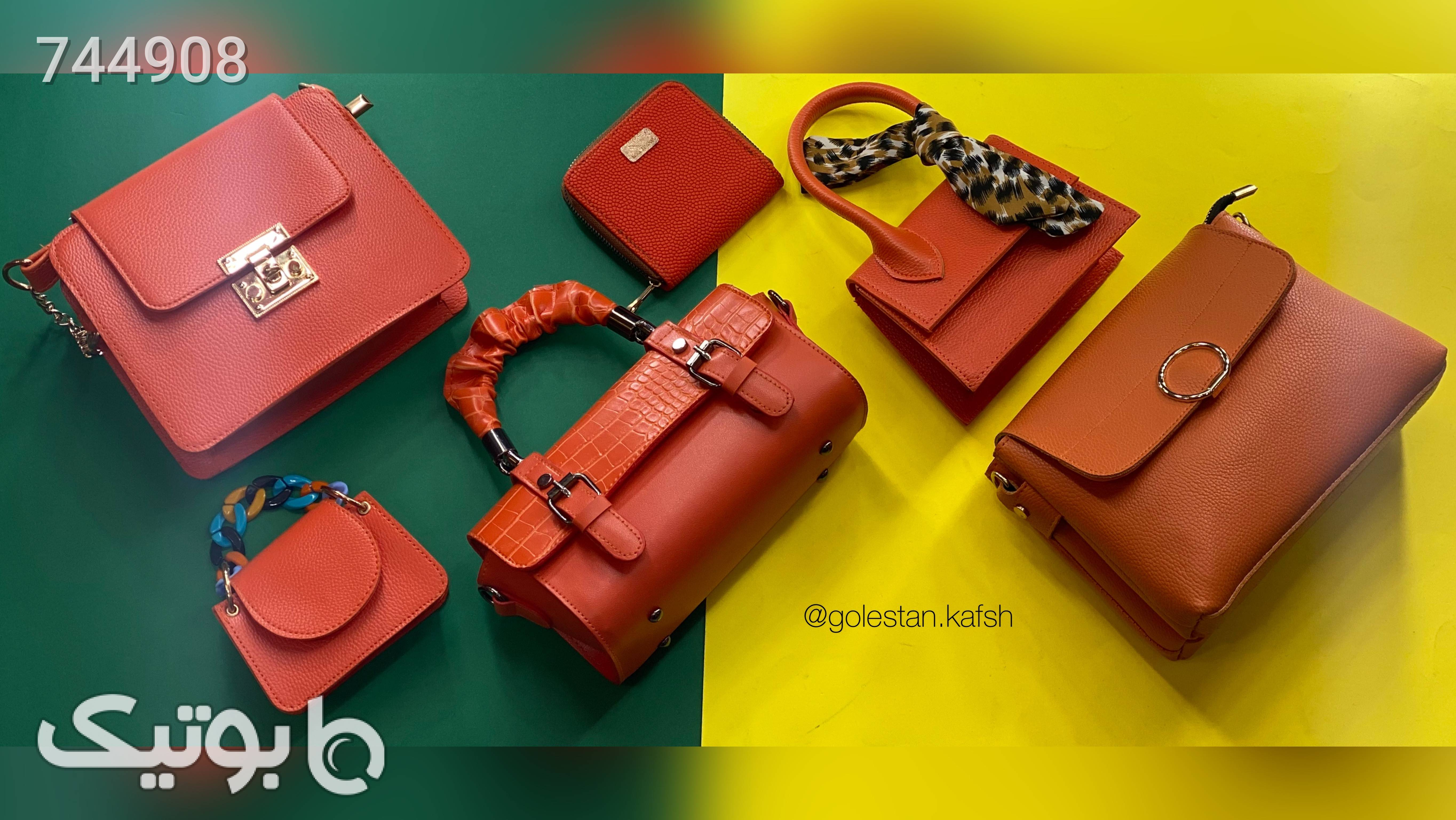 کیف نارنجی كيف زنانه