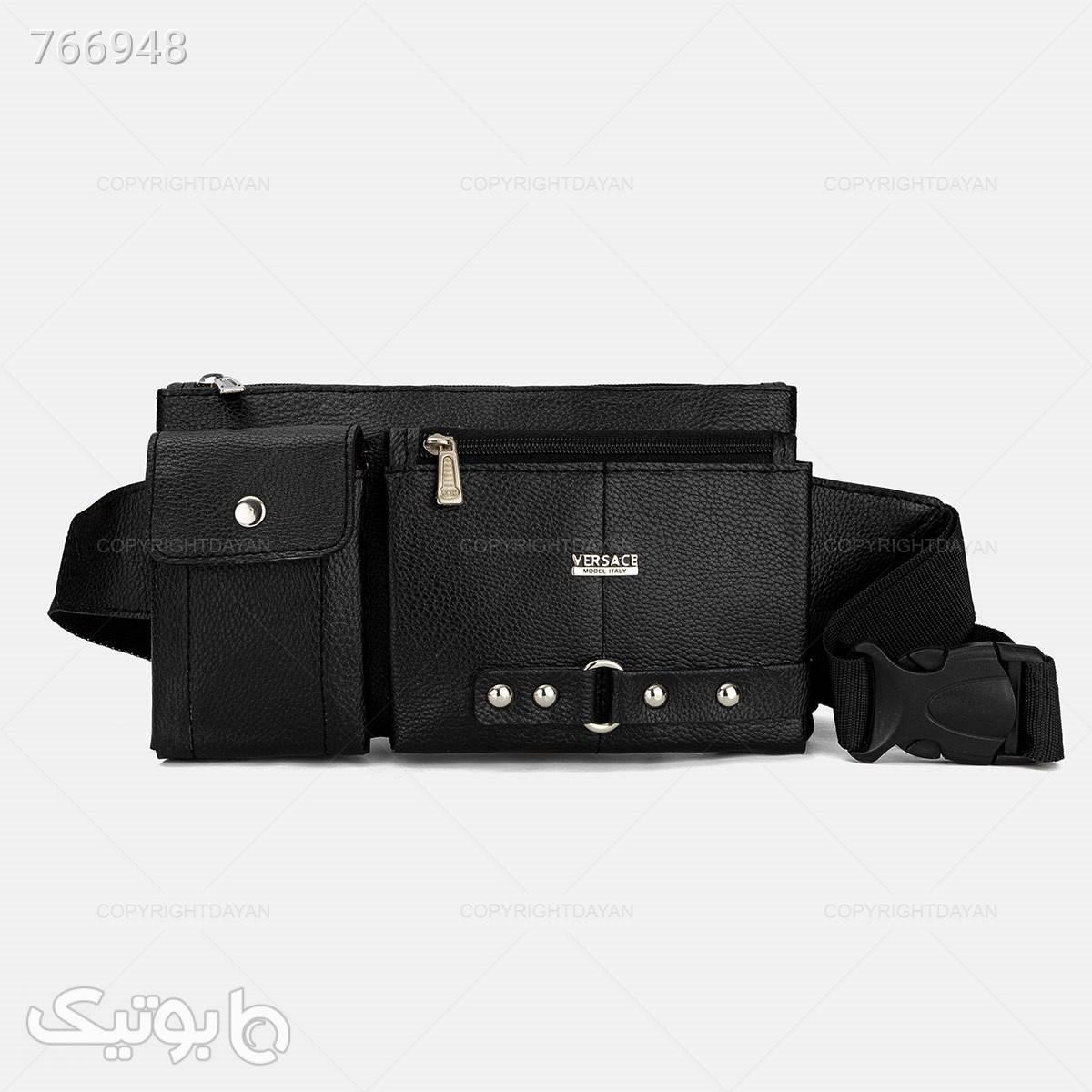 کیف کمری ورساچه مدل 17672 مشکی كيف مردانه