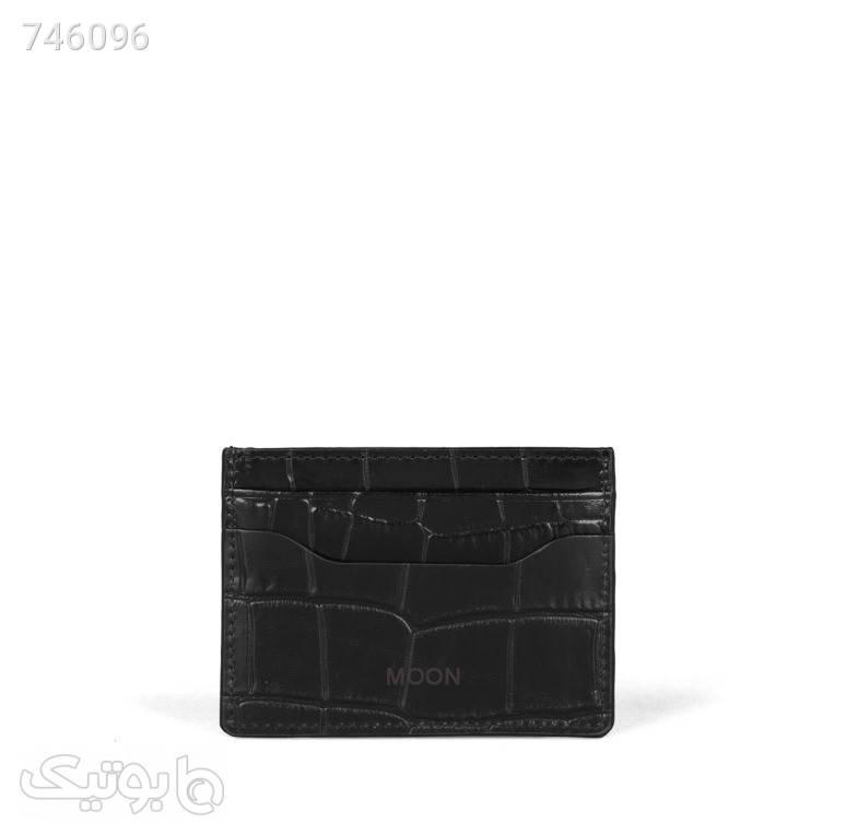 جاکارتی چرم طبیعی مدل cr712 مشکی کیف پول و جا کارتی