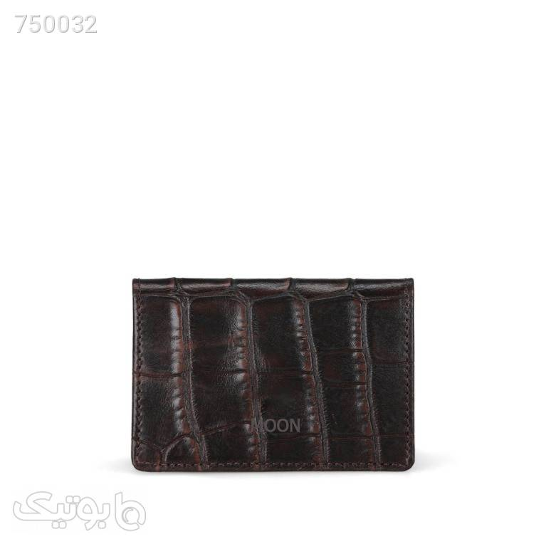 جاکارتی چرم طبیعی مدل cro365 قهوه ای کیف پول و جا کارتی