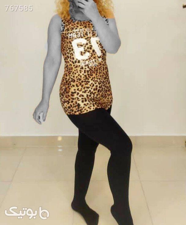 تاپ پلنگی تیپ لاکرا ترک طلایی تاپ زنانه