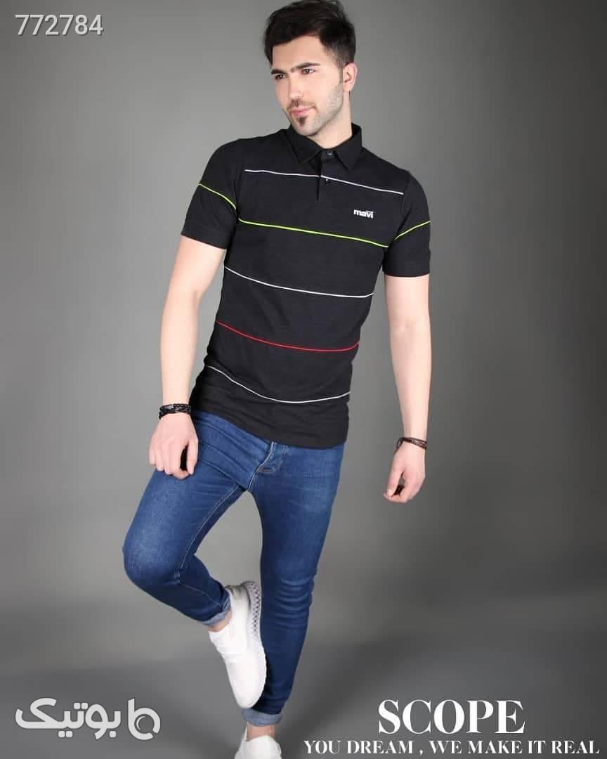 تیشرت یقه دار جودون آبی تی شرت و پولو شرت مردانه