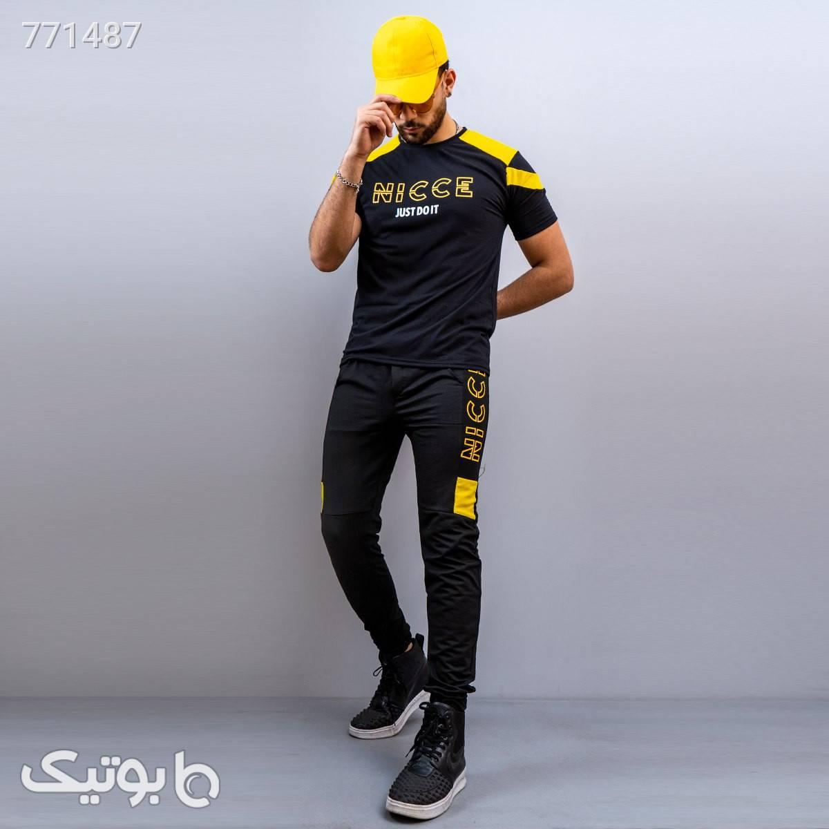 ست تيشرت شلوار NICCE مردانه مدل Edvin مشکی تی شرت و پولو شرت مردانه