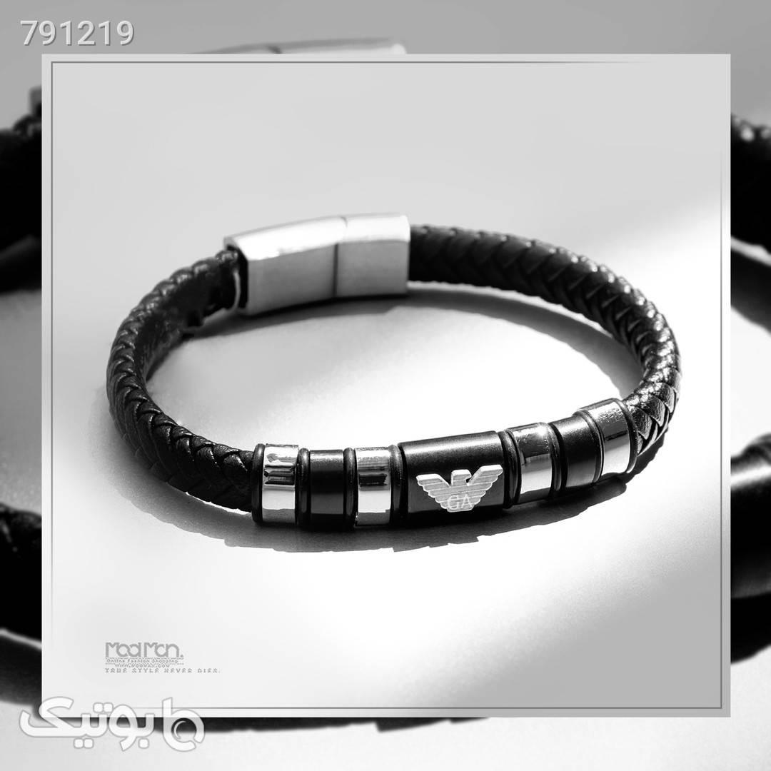 دستبند چرم مردانه  مشکی دستبند و پابند