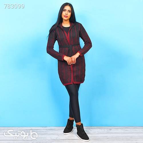 مانتو بافت دخترانه مدل VINA قرمز رویه و بافت