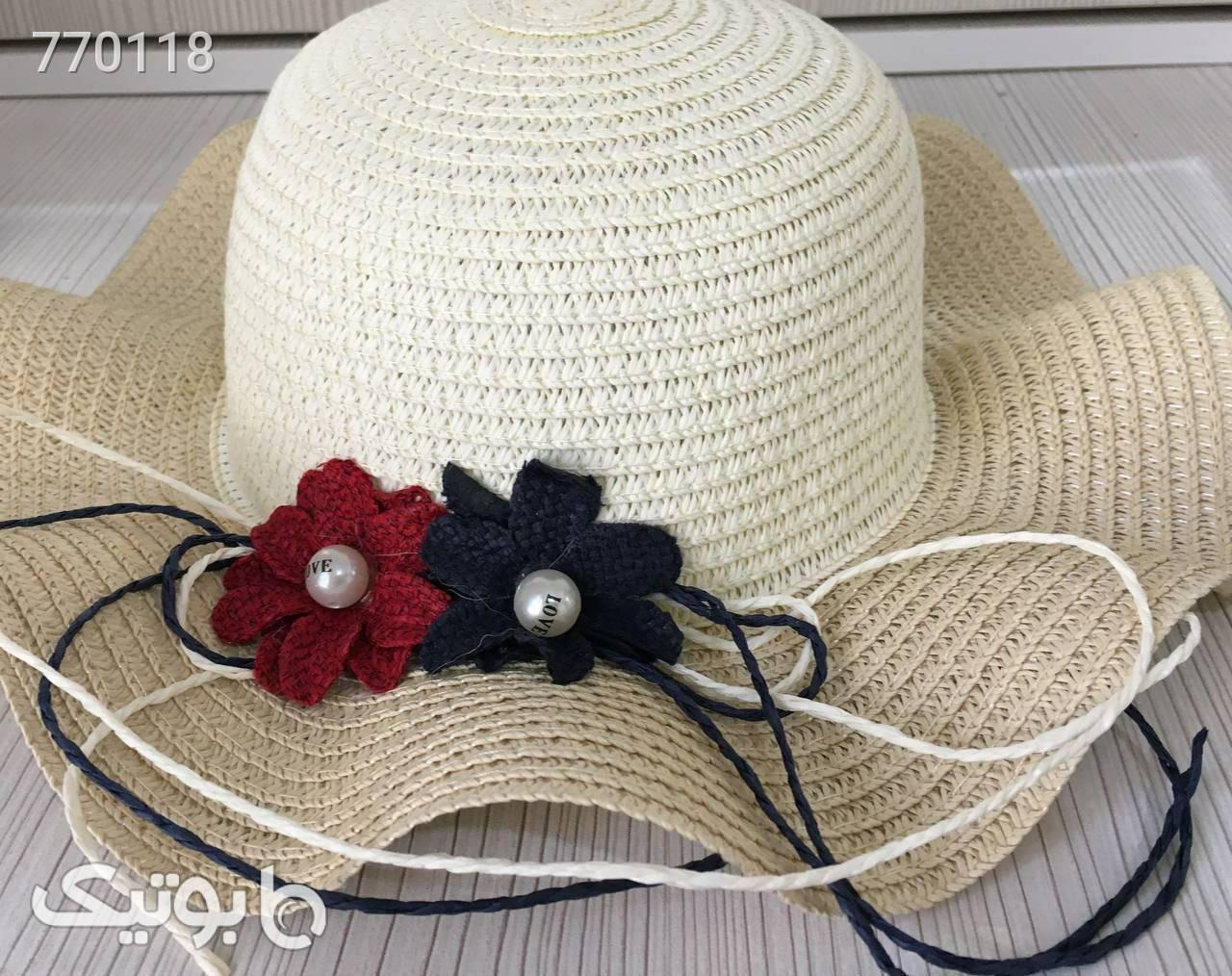 کلاه حصیر سبک و شیک دخترانه مشکی کلاه و اسکارف