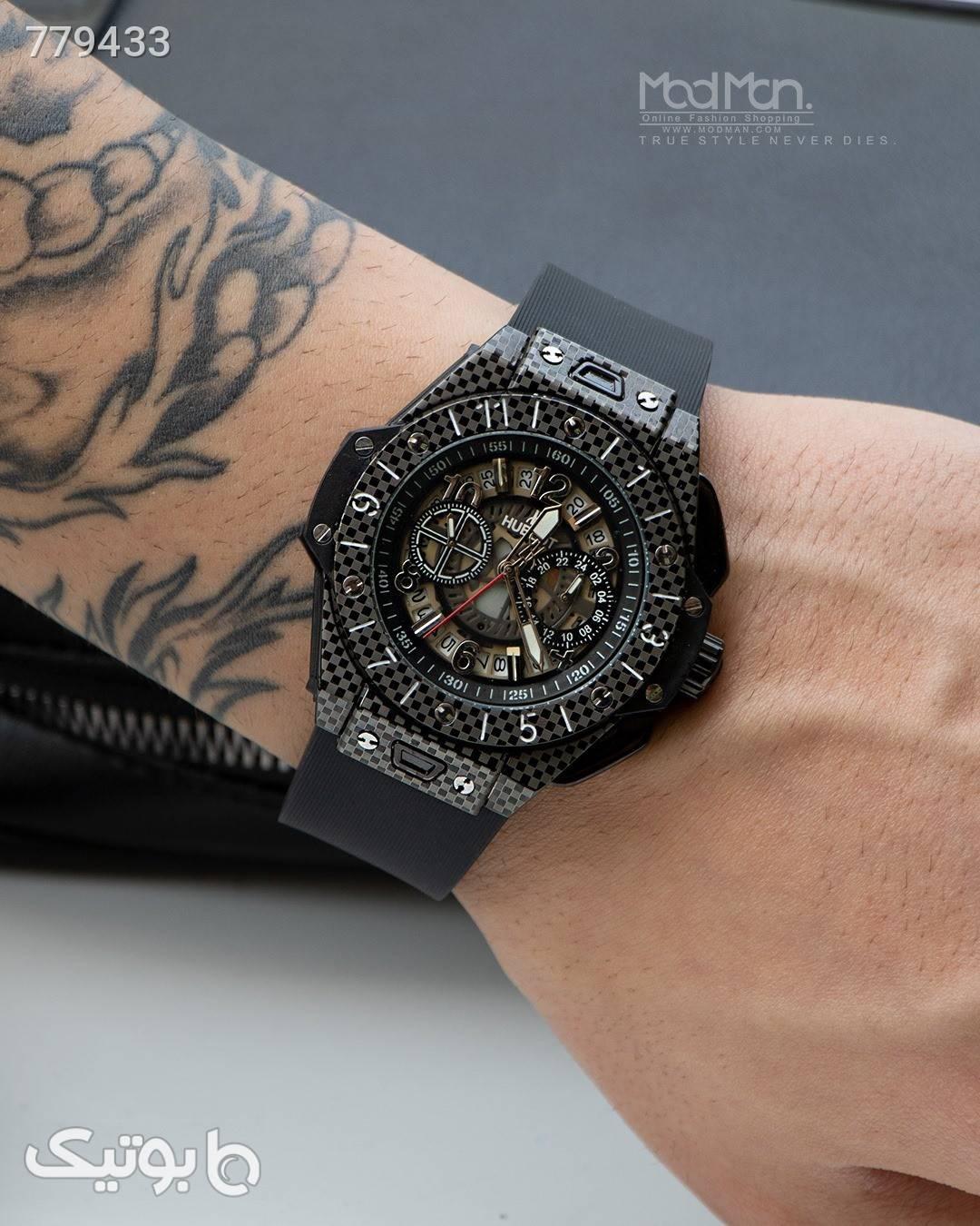 ساعت مچی مردانه  مشکی ساعت