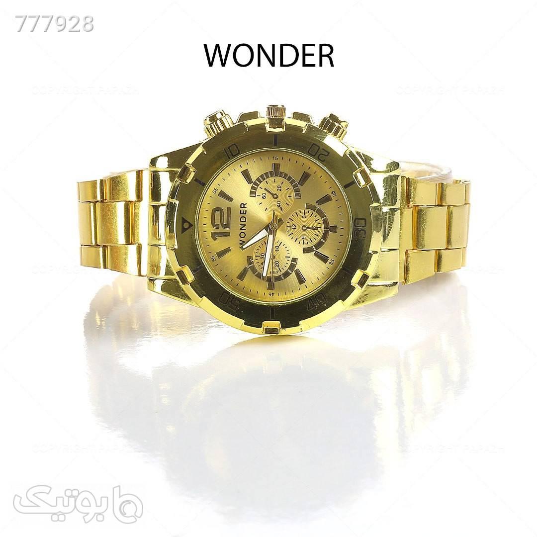 ساعت مچی مردانه WONDER زرد ساعت