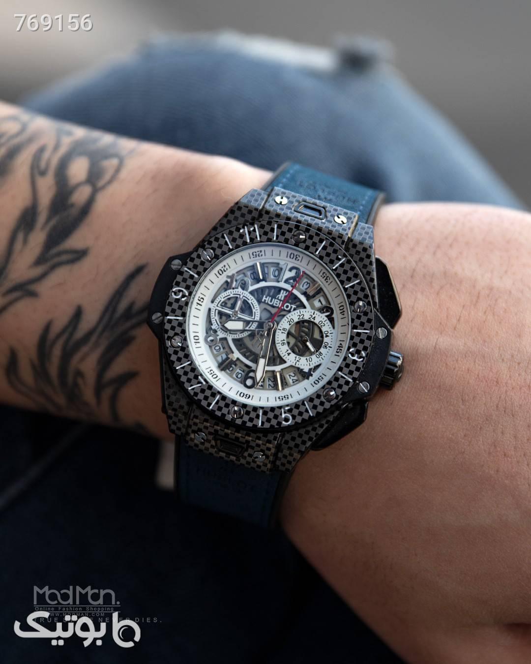 ساعت مچی  مشکی ساعت