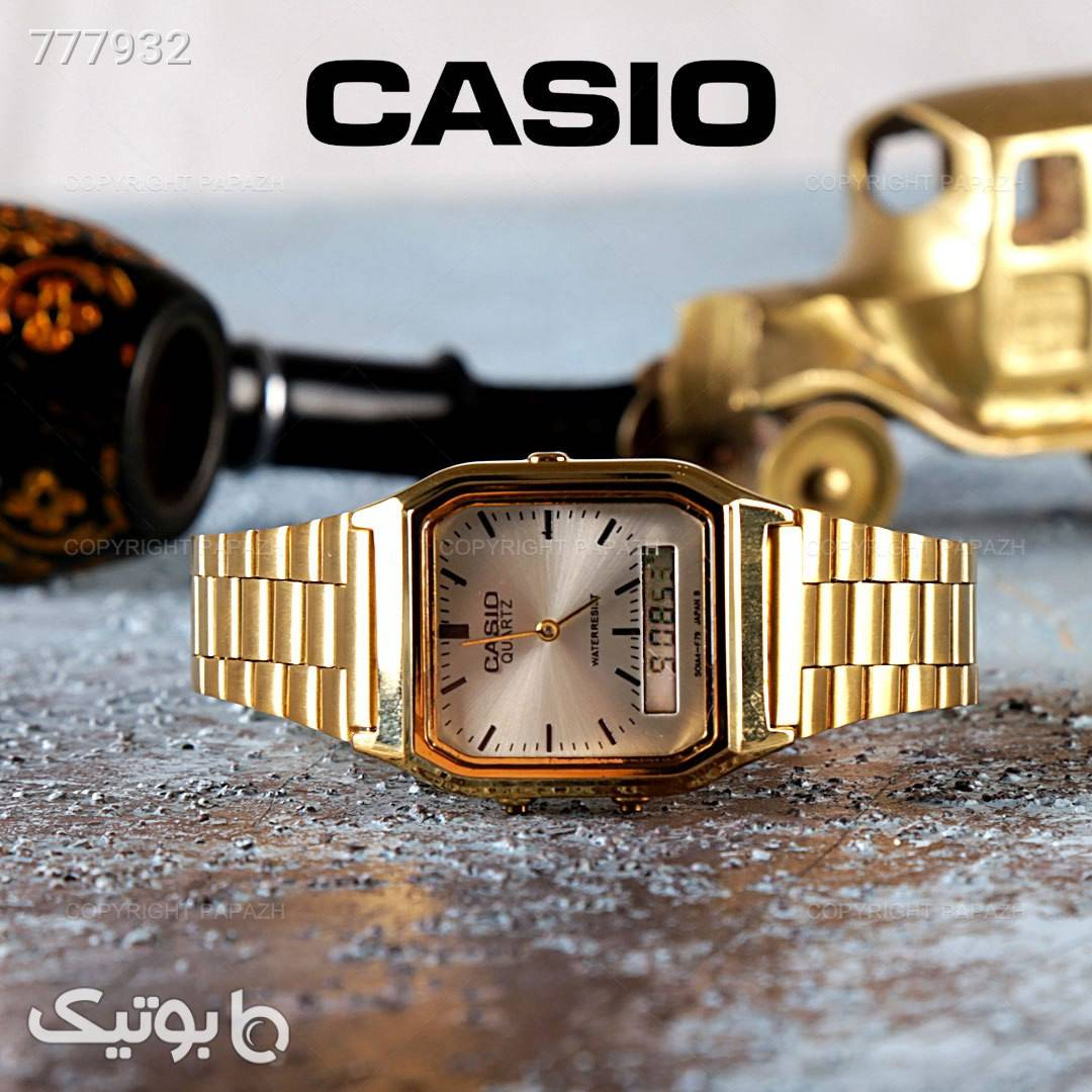 ساعت مچی CASIO  زرد ساعت