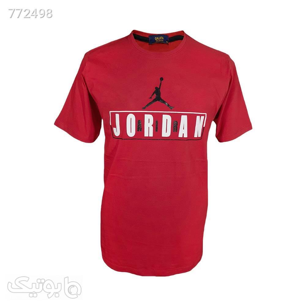تیشرت سایز بزرگ قرمز طرح جوردن 12212547 قرمز سایز بزرگ مردانه