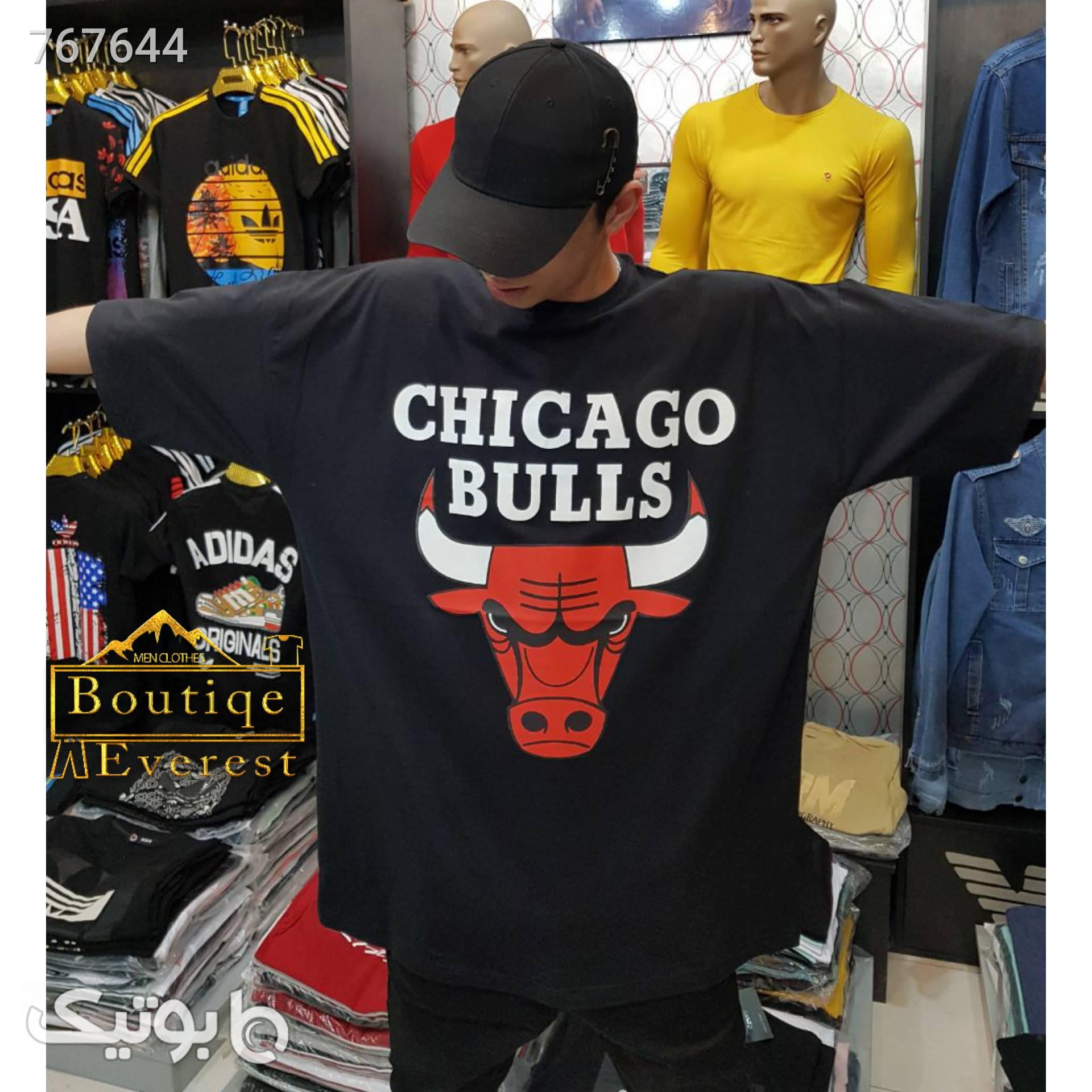 تیشرت لش شیکاگو بولز مشکی سایز بزرگ مردانه