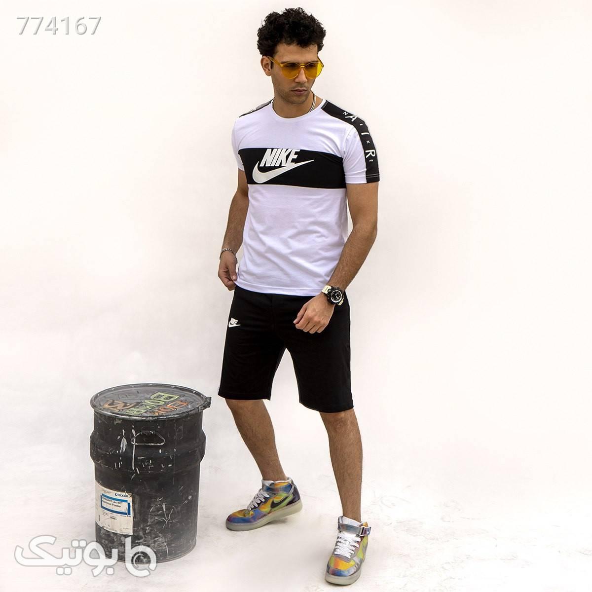 ست تيشرت و شلوارك Nike مردانه مدل Niver مشکی ست ورزشی مردانه