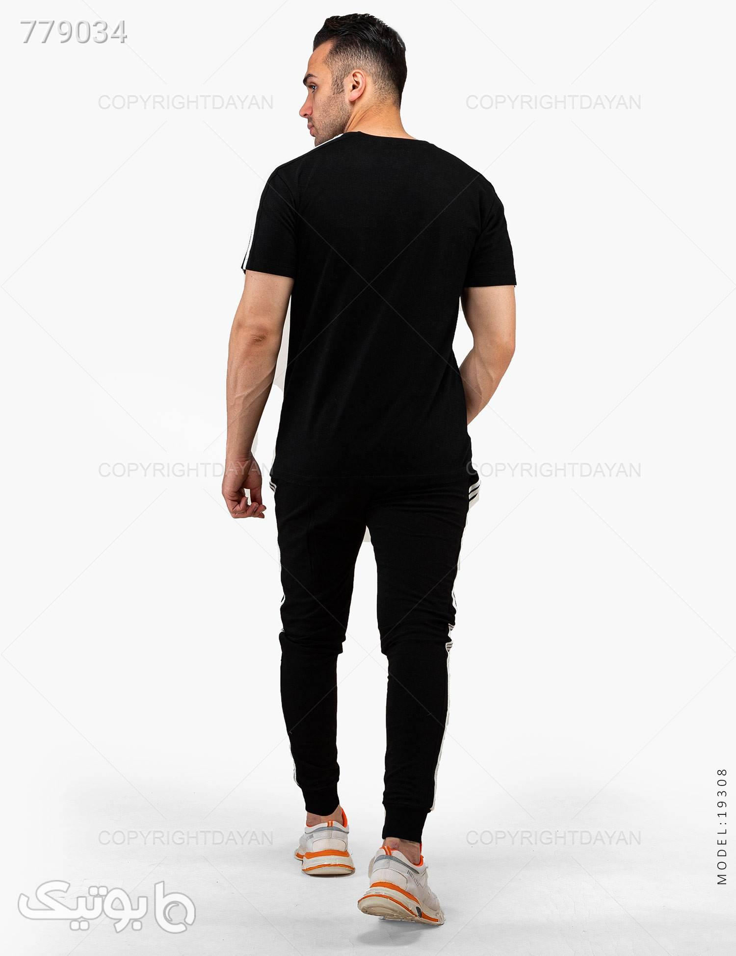 ست تیشرت و شلوار مردانه Adidas مدل 19308 مشکی ست ورزشی مردانه