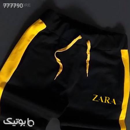 ست تی شرت و شلوار Zara زرد ست ورزشی مردانه
