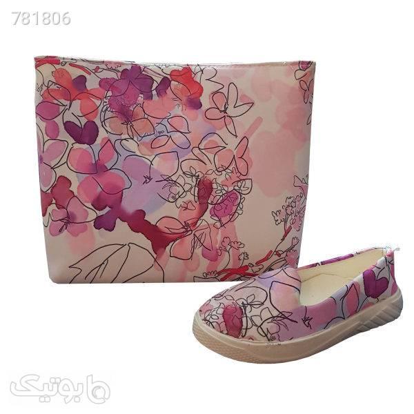 ست کیف و کفش زنانه مدل AM04 صورتی ست کیف و کفش زنانه