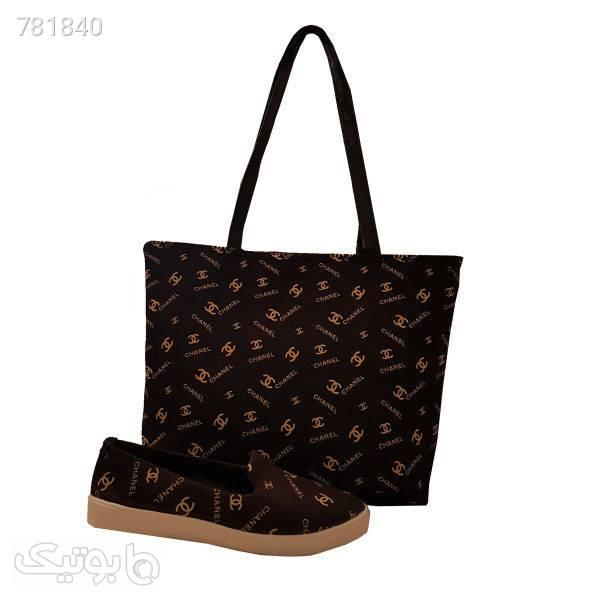 ست کیف و کفش زنانه مدل MA001  قهوه ای ست کیف و کفش زنانه