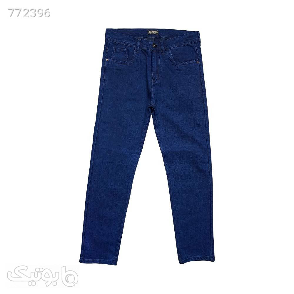 شلوار لی راستا کلاسیک11114852 سورمه ای شلوار جین مردانه