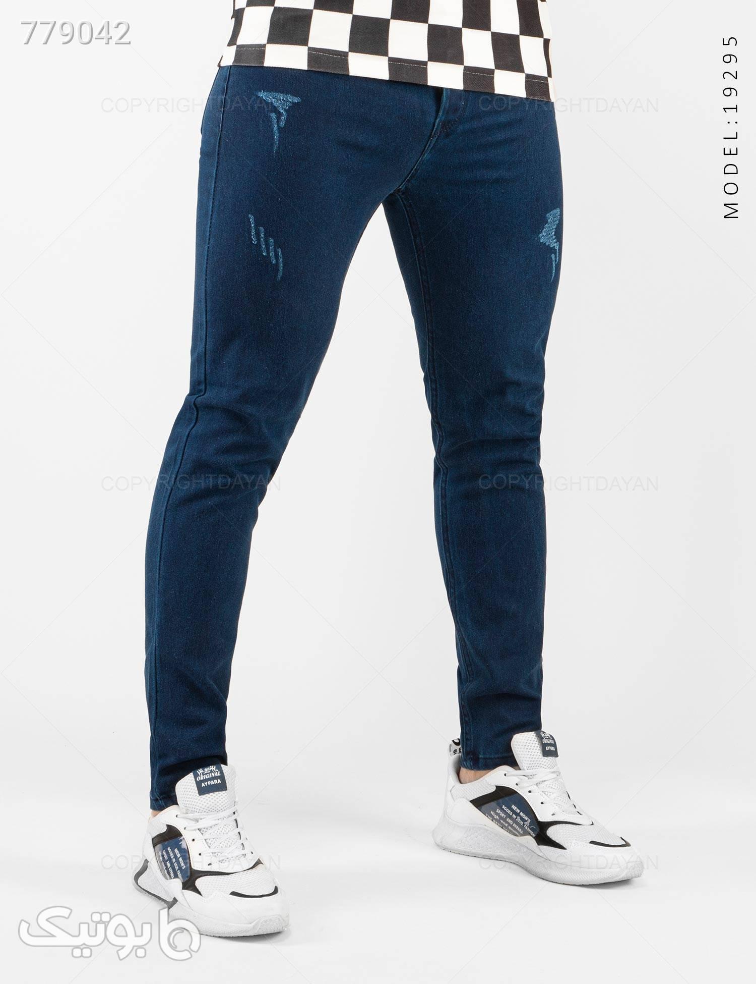 شلوار لی مردانه Mason مدل 19295 سورمه ای شلوار جین مردانه