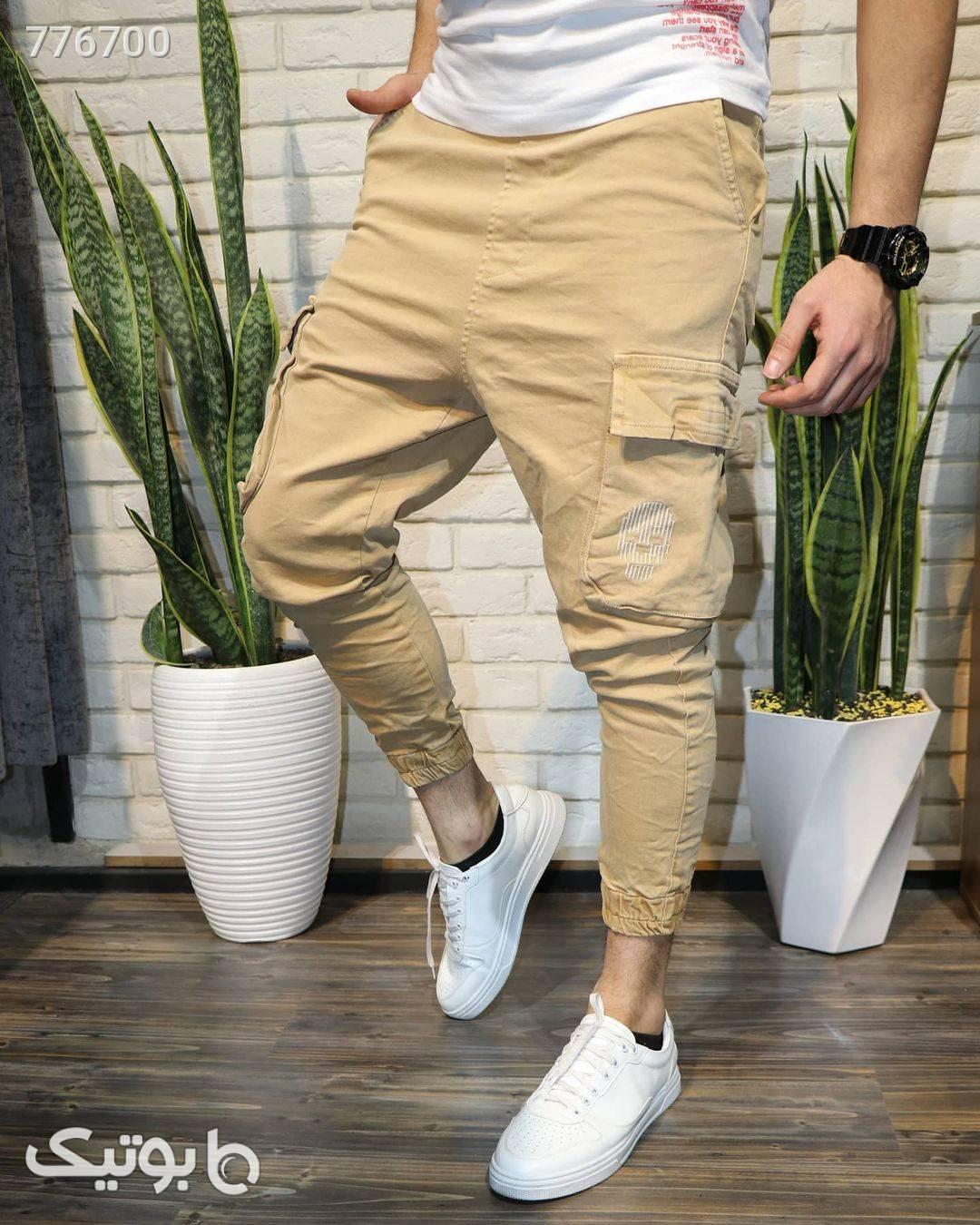 شلوار شش جیب دمپاکش کرم شلوار مردانه پارچه ای و کتان مردانه
