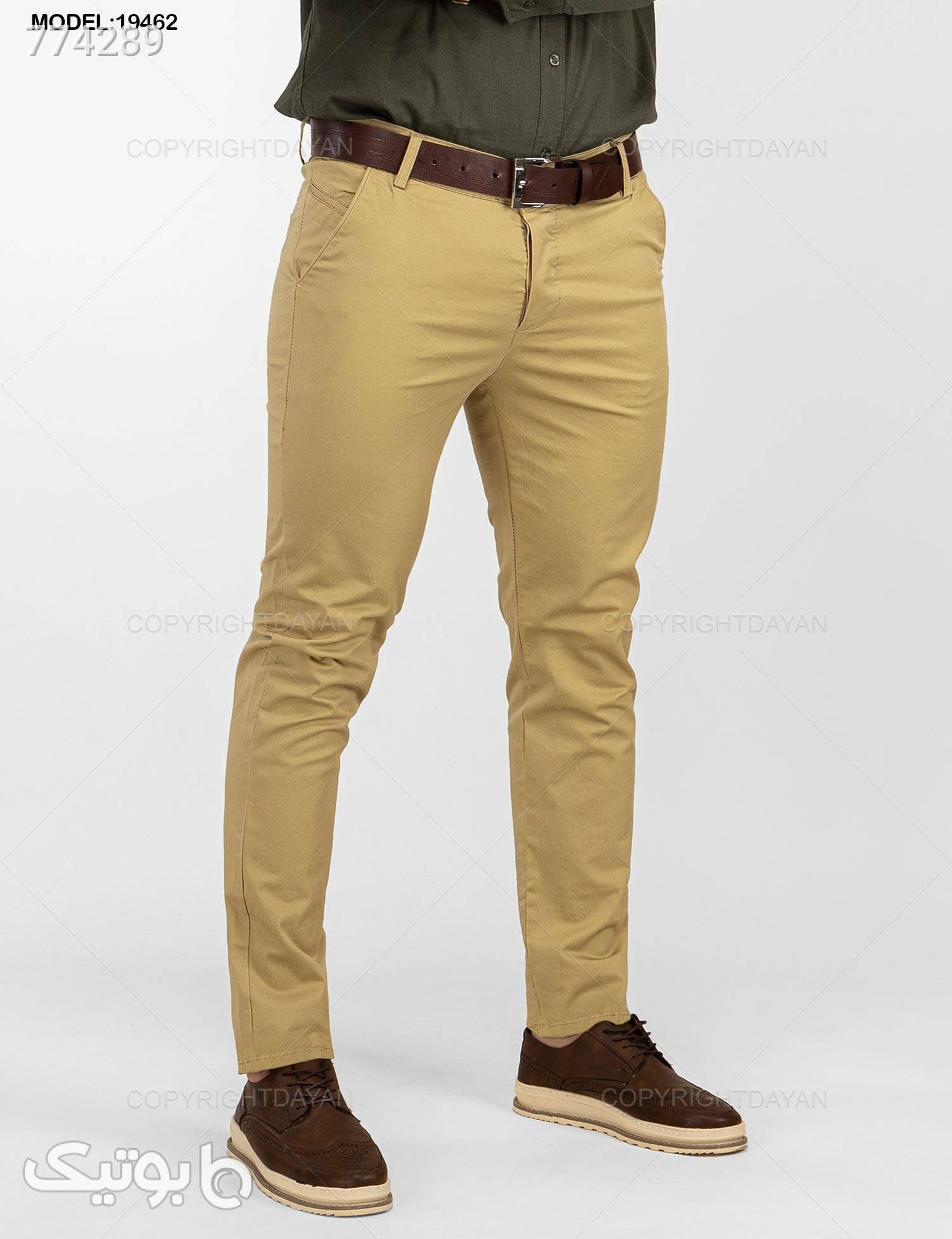 شلوار مردانه Louis Vuitton مدل 19462 کرم شلوار مردانه پارچه ای و کتان مردانه