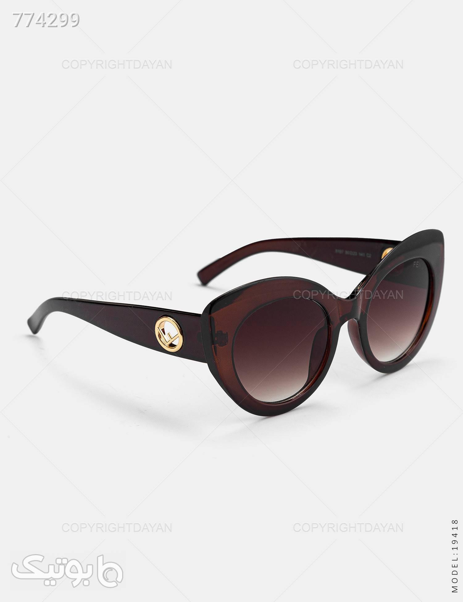 عینک آفتابی زنانه Fendi مدل 19418 مشکی عینک آفتابی