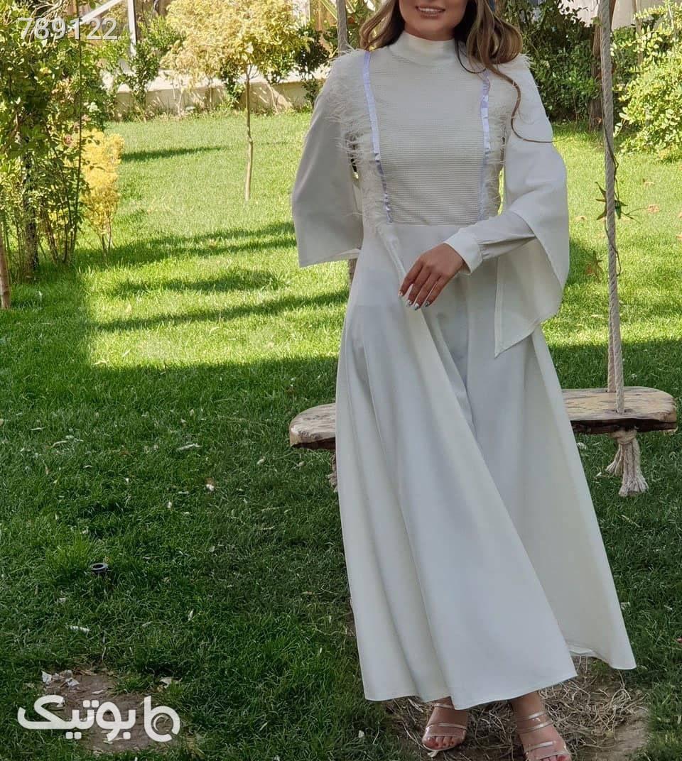 پیراهن عروس کرپ  سفید لباس عروس