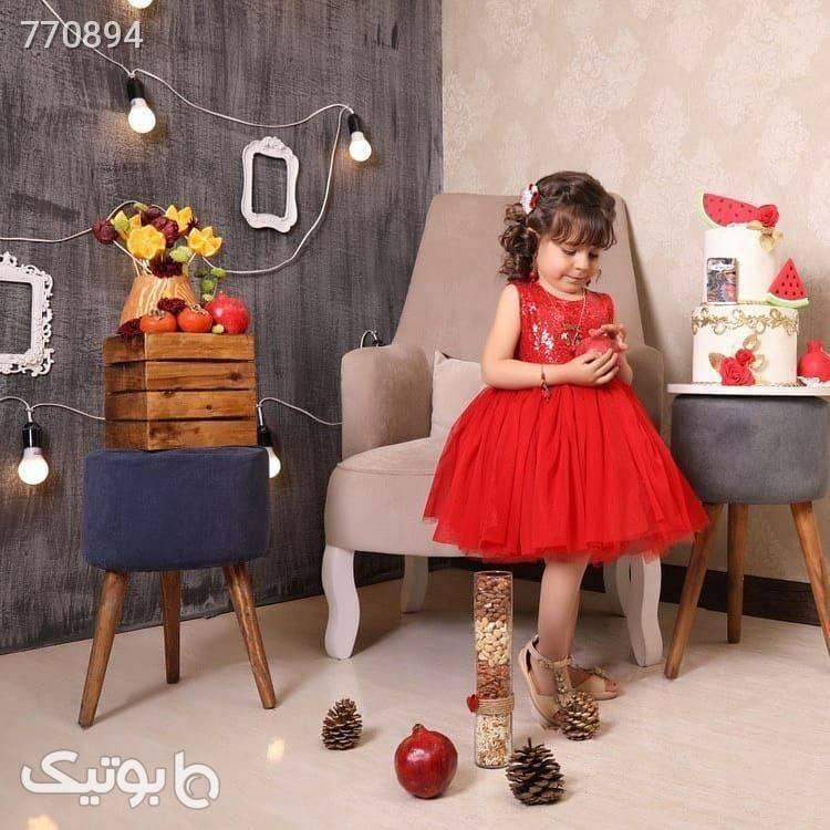 پیراهن دخترانه قرمز لباس کودک دخترانه