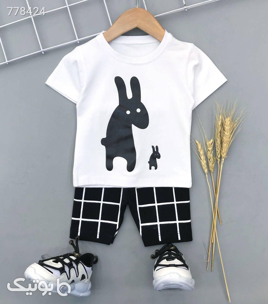 بلوز شلوارک الاغ خسته پسرانه جدید  مشکی لباس کودک پسرانه