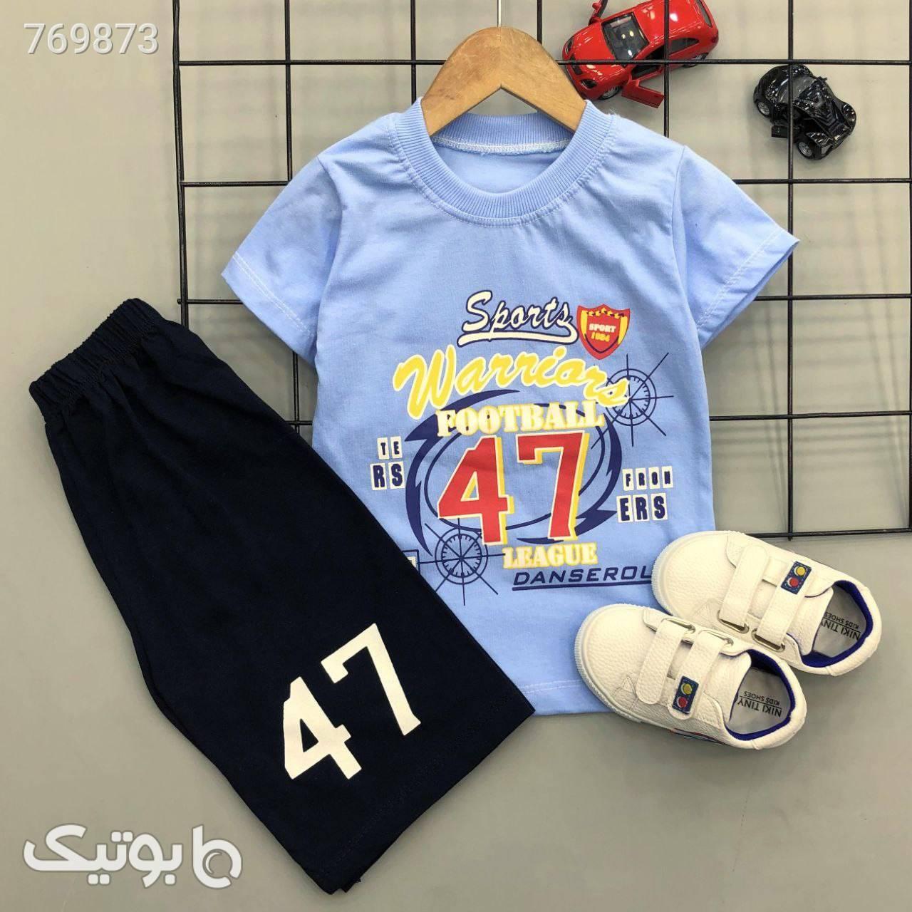 بلوز شلوارک football 47 پسرانه شیک سبز لباس کودک پسرانه