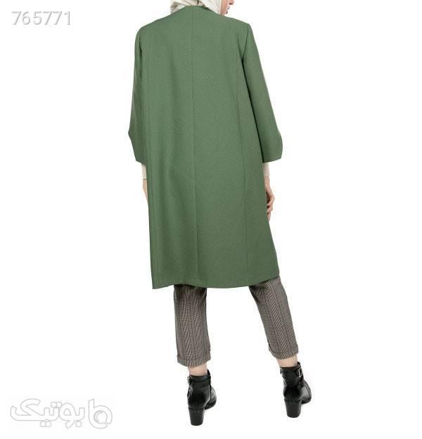 مانتو پاییزه زنانه زیبو Ziboo مدل April سبز مانتو