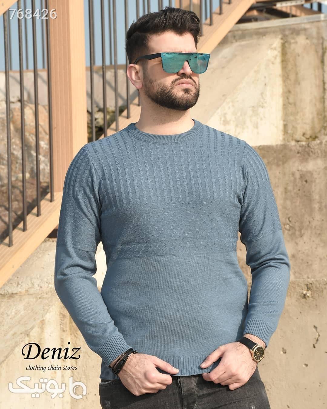 بافت مردانه  آبی پليور و ژاکت مردانه
