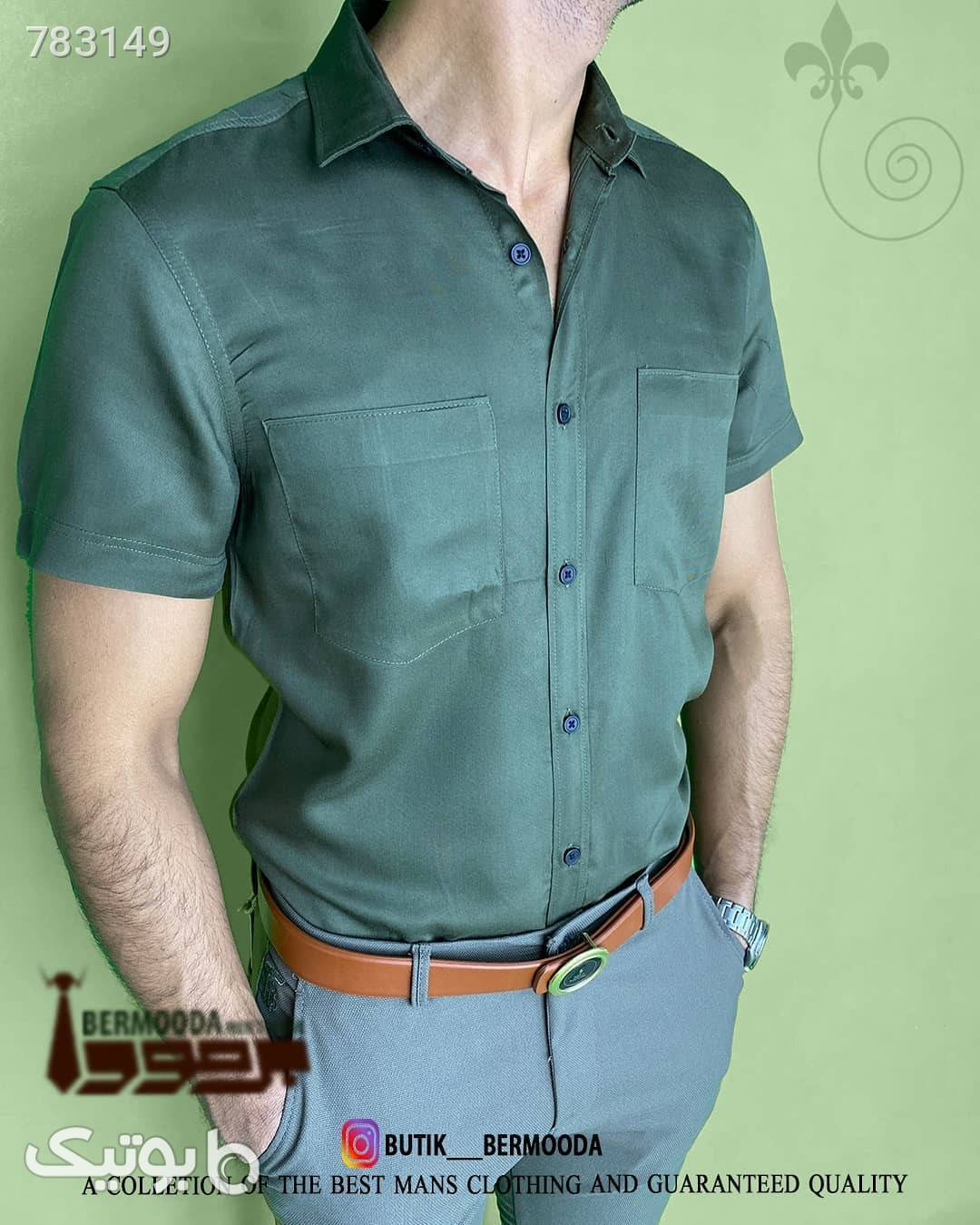 پیراهن مردانه  سبز پيراهن مردانه