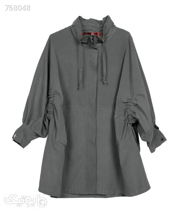 بارانی زنانه سرژه Serge کد 228108 طوسی کاپشن و بارانی زنانه