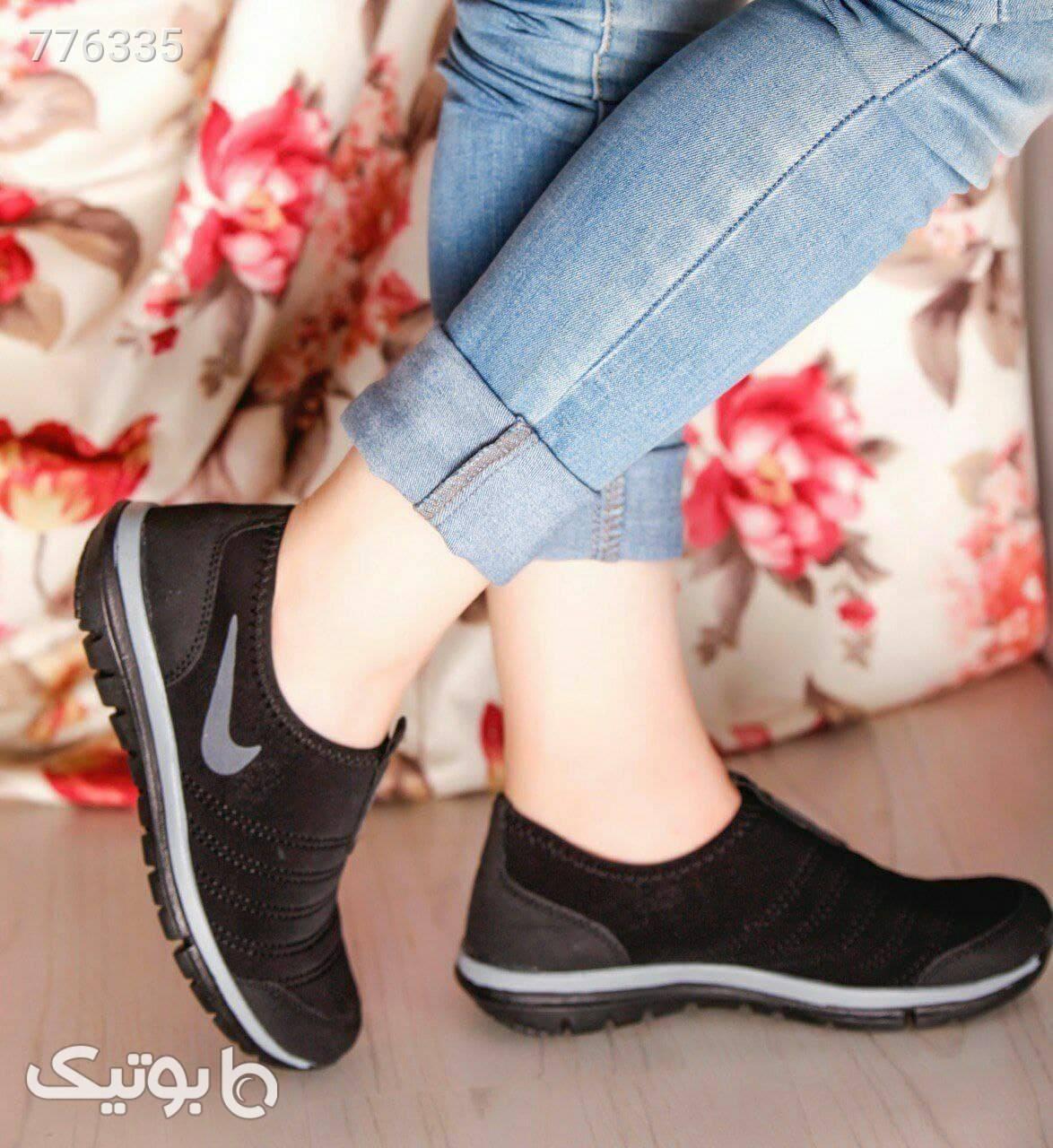 کفش دخترانه شیک مشکی كتانی زنانه