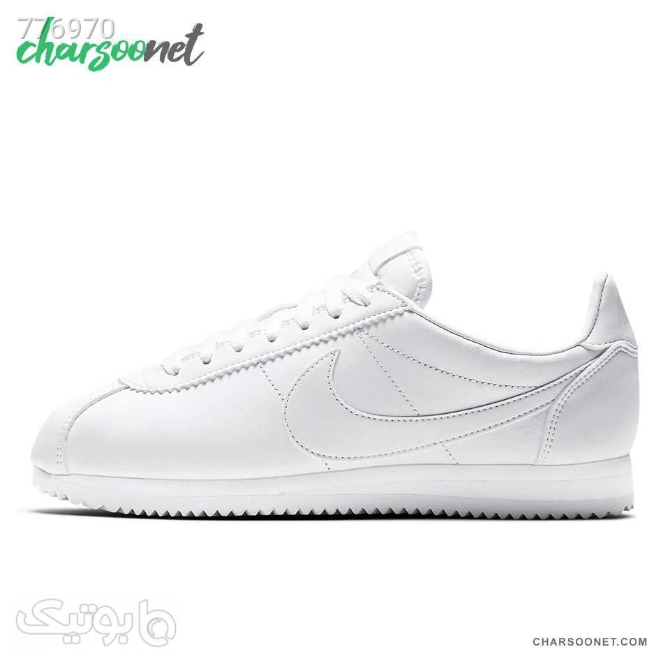 کفش راحتی نایک زنانه مدل Nike Cortez سفید كتانی زنانه