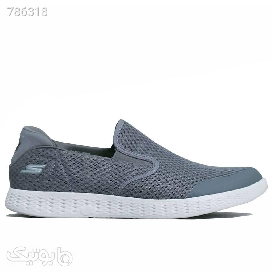 کفش راحتی مردانه اسکچرز Skechers Go Glide طوسی كتانی مردانه