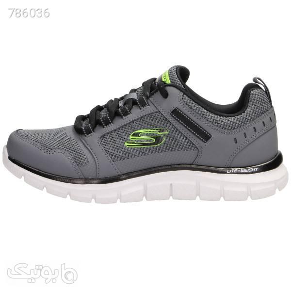 کفش مخصوص پیاده روی مردانه اسکچرز مدل 232001CCBK  طوسی كتانی مردانه
