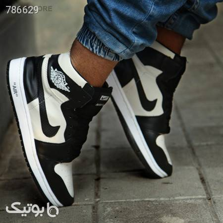 کفش ساقدار مردانه Nike مدل jordan مشکی كفش مردانه