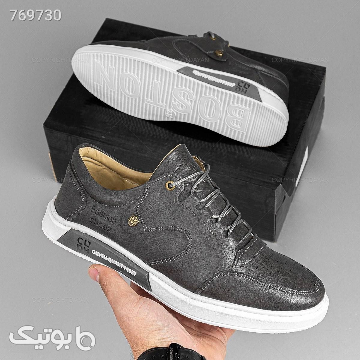 کفش مردانه فشن مدل 19484 نقره ای كفش مردانه