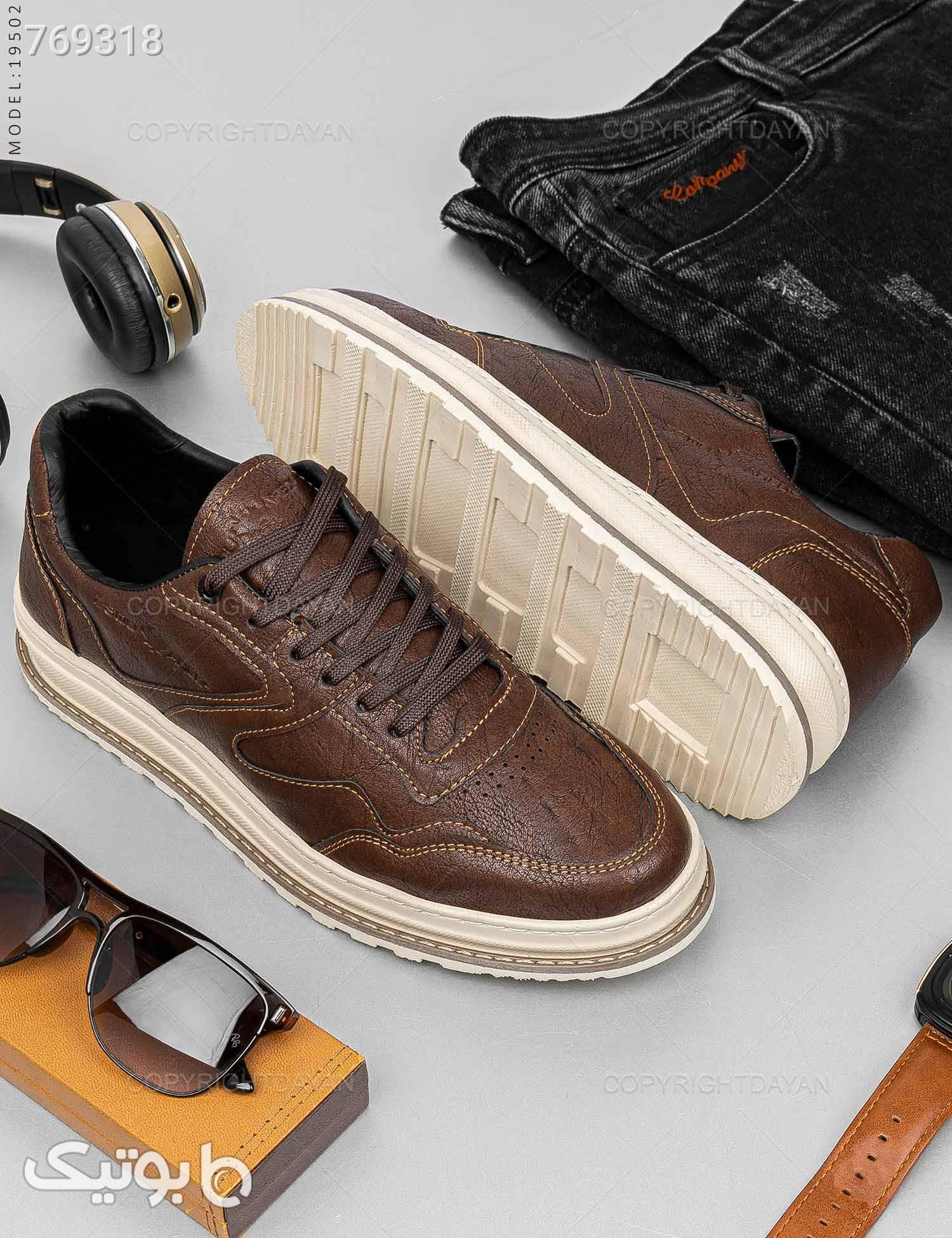 کفش مردانه Nika مدل 19502 قهوه ای كفش مردانه