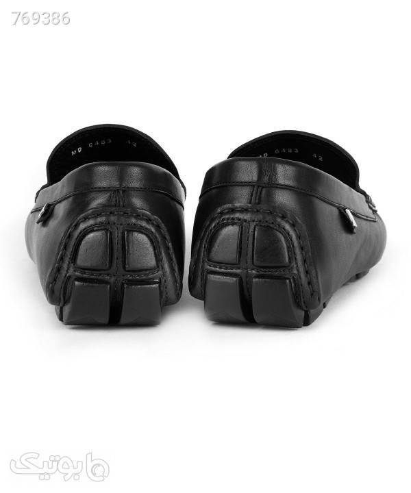 کفش کالج مردانه چرم مشهد Mashad Leather مدل J6053 مشکی كفش مردانه