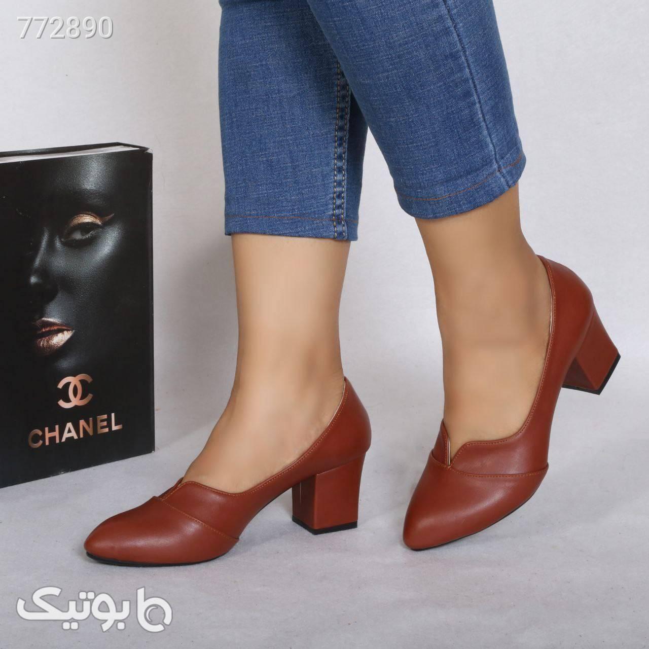 کفش زنانه خوشپاوراحت پرفروش مشکی كفش پاشنه بلند زنانه