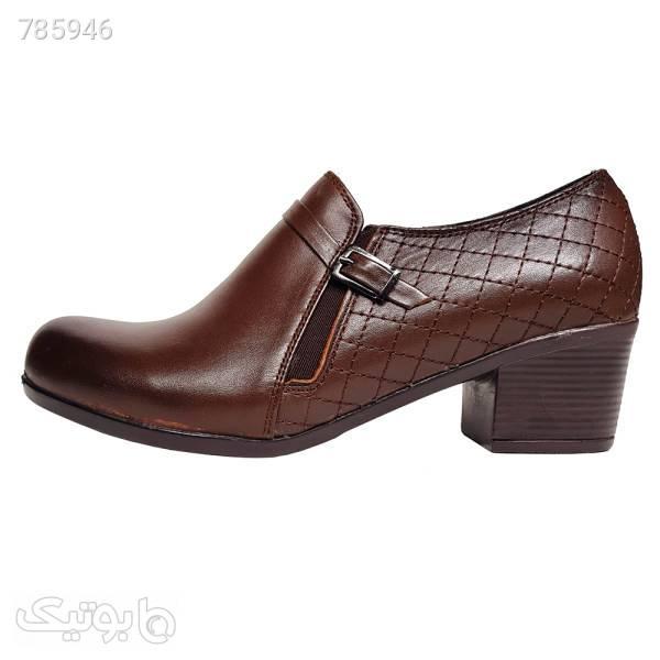 کفش زنانه مدل 12185 قهوه ای كفش پاشنه بلند زنانه
