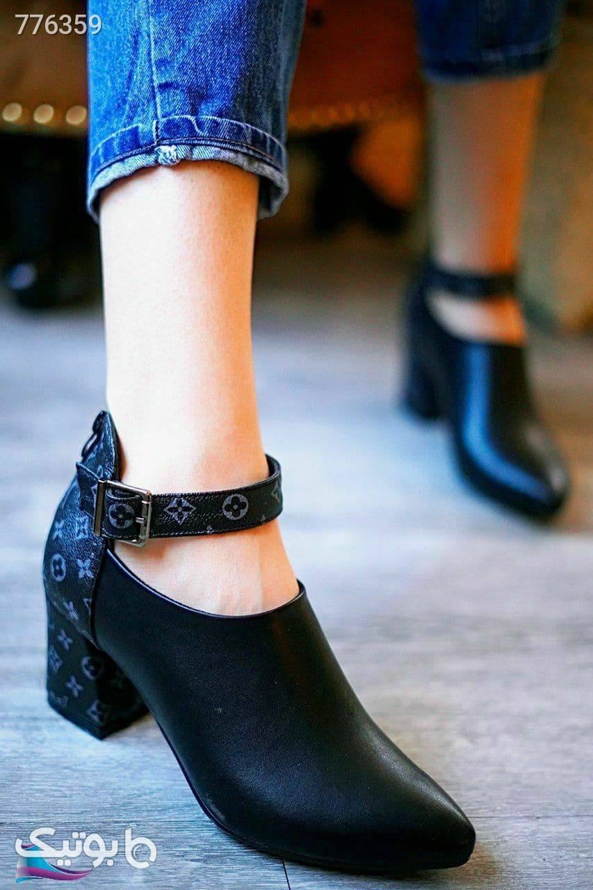 کفش زنانه چرم فوق العاده شیک و باکیفیت مشکی كفش پاشنه بلند زنانه