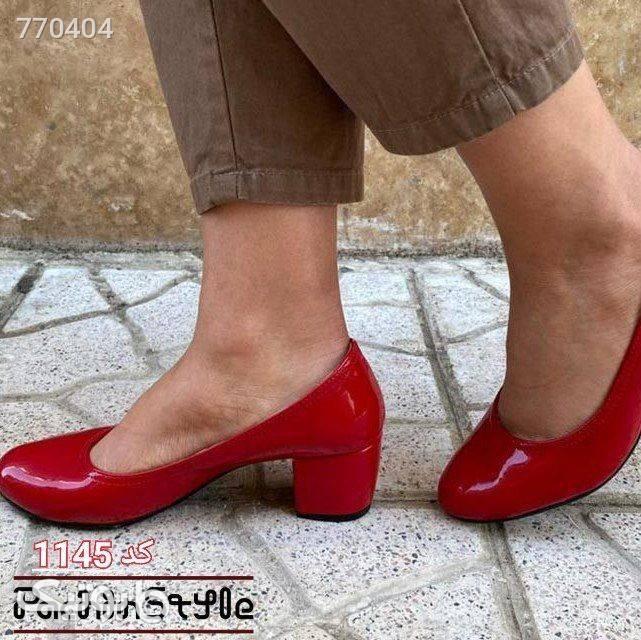 کفش پاشنه  زرد كفش پاشنه بلند زنانه